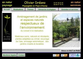 Image de la page d'Accueil du Site an-natur-paysage.com