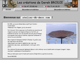 Image de la page d'Accueil du Site-vitrine atelier-dk-deco.com